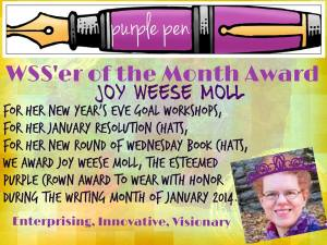 WSS'er of the Month Award to Joy Weese Moll