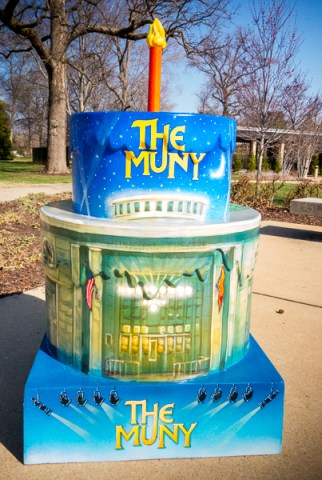 St. Louis 250th Birthday Cake at The Muny