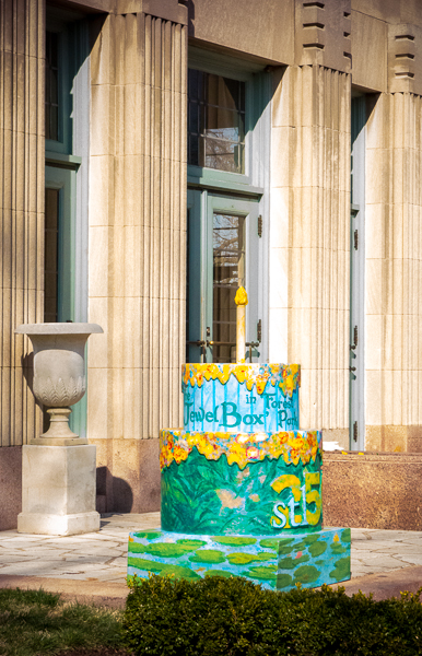 St. Louis 250th Birthday Cake at the Jewel Box