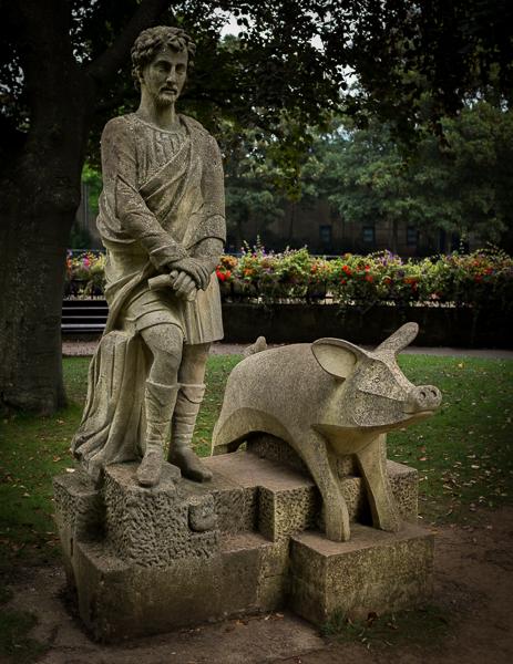 Prince Bladud and pig