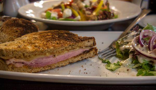 Sandwich and salad, The Devereux, London