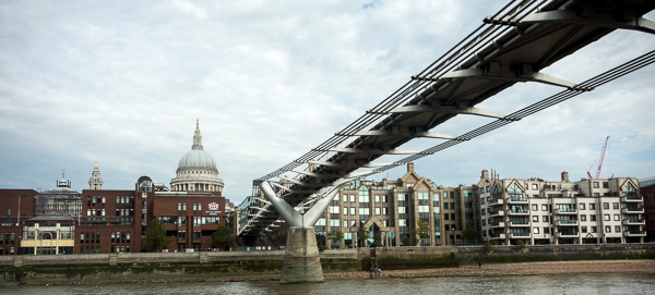 St. Paul's Cathedral and the Millennium Footbridge