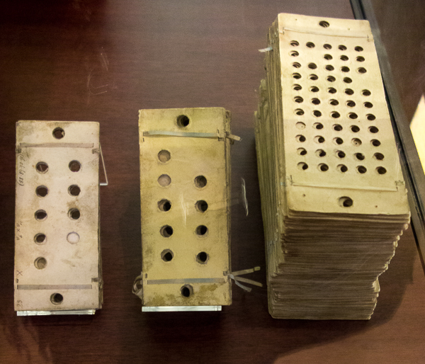 Punch cards for the Analytical Engine by Charles Babbage, Science Museum, London
