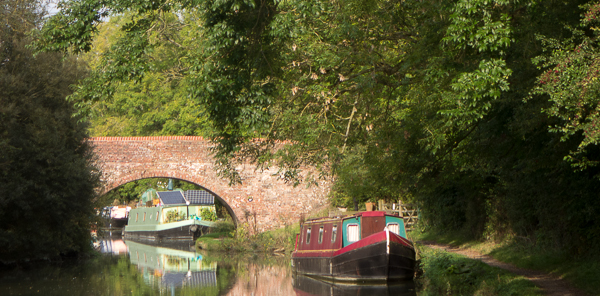 Canal with canal boats