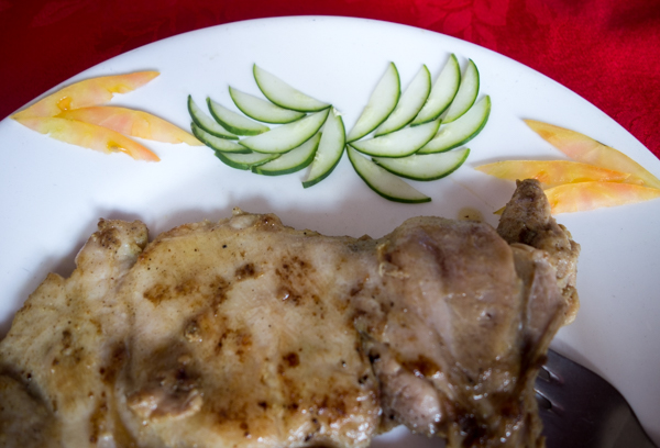 Chicken at Las Mamparas, Cienfuegos, Cuba