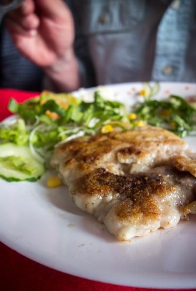 Fish served at Las Mamparas, Cienfuegos, Cuba