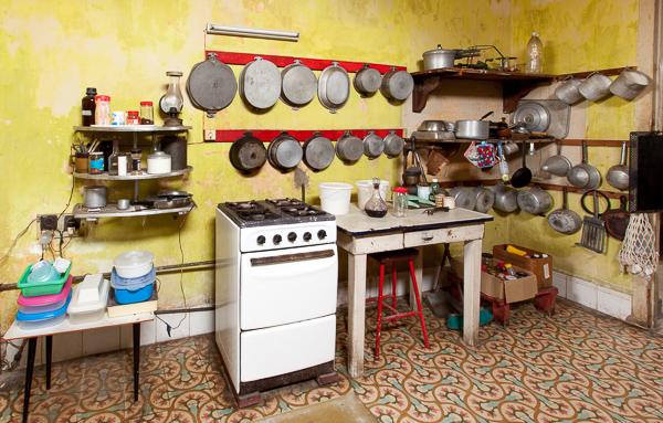 Kitchen in Vedado house, Havana, Cuba