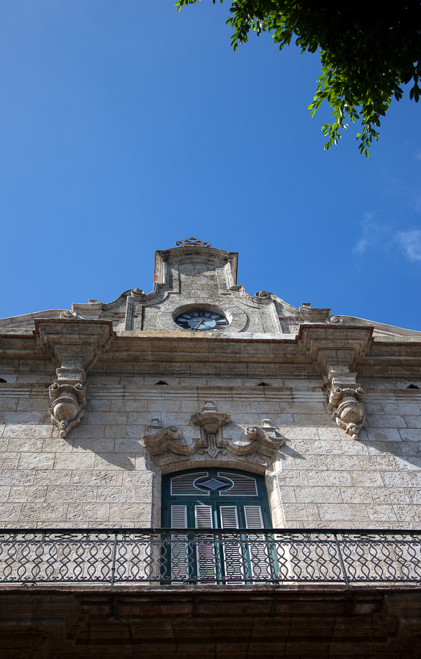 Close-up of the Palacio de los Capitanes Generales, Plaza de Armas, Havana, Cuba