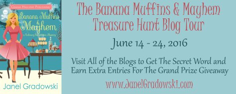 Banana Muffins and Mayhem by Janel Gradowski blog tour