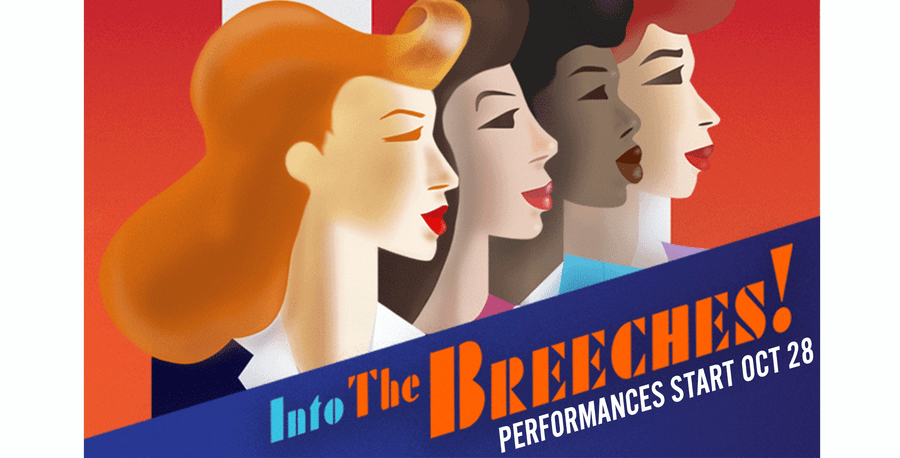 Into the Breeches! Play poster