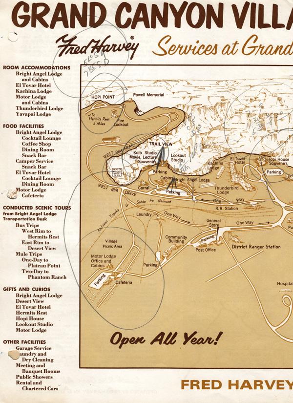 Grand Canyon map -- left half