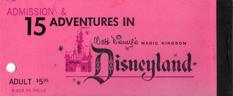 Front of Disneyland ticket pack