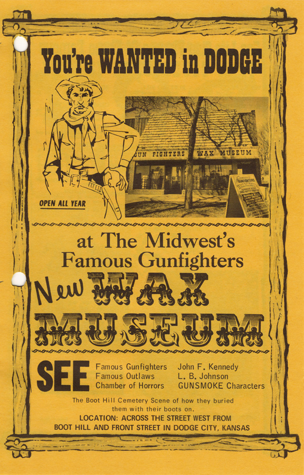 Gunfighters Wax Museum brochure