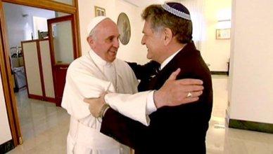 Ferenc pápa és barátja Abraham Skorka Buenos airesi rabbi