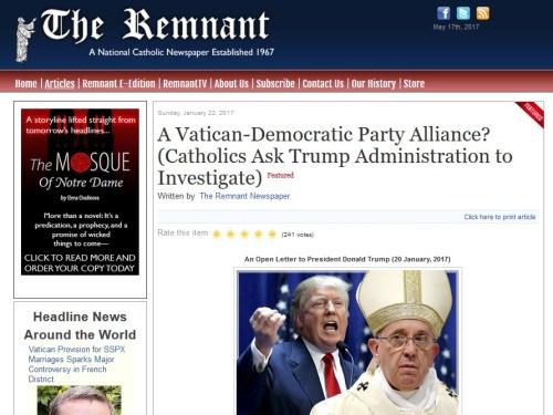 Akatolikusok várják Trumtól a vizsgálatot