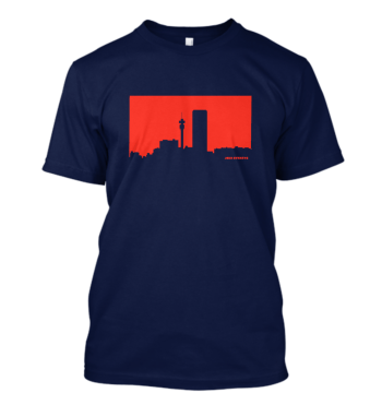 Jozi Streets Navy Blue - Neon Red