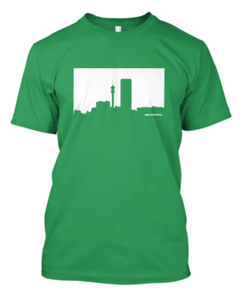 Jozi-Streets T-shirt in Green White