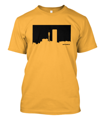 Jozi Streets T-shirt in Yellow-Black