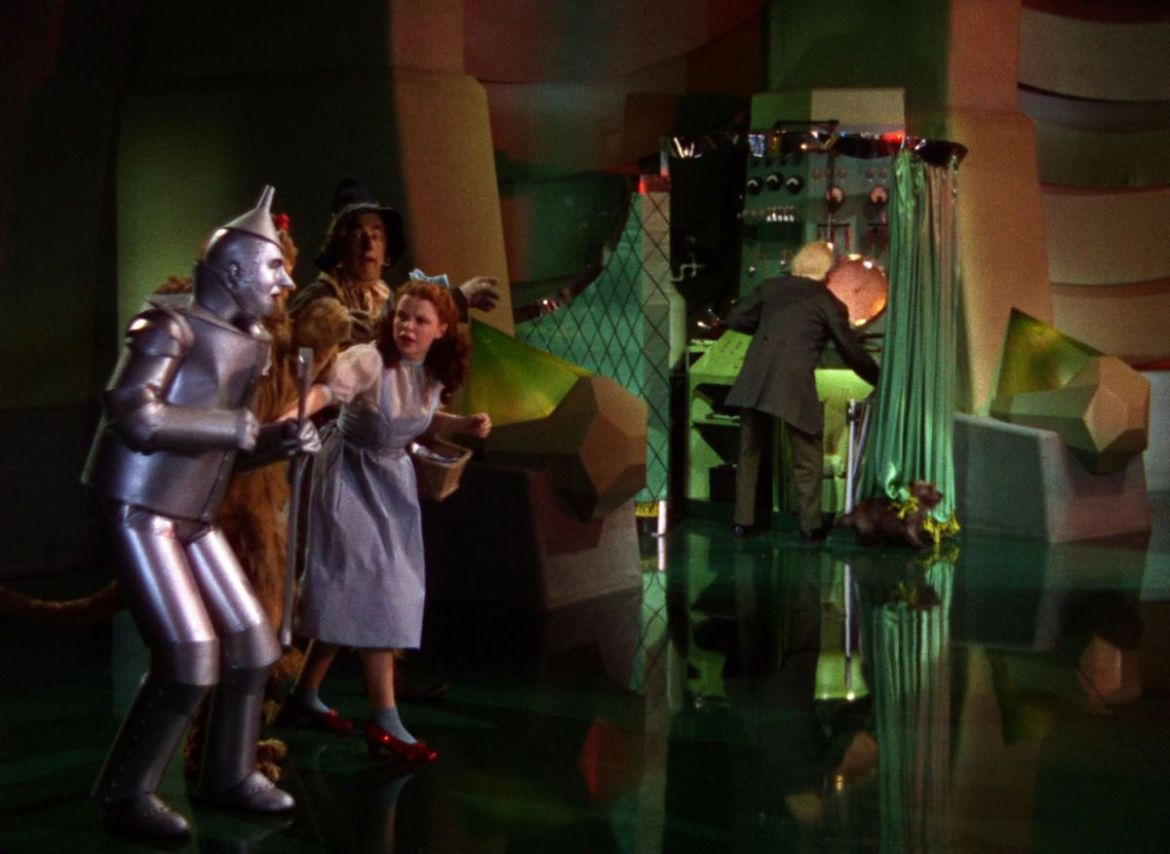 Wizard of Oz man behind curtain