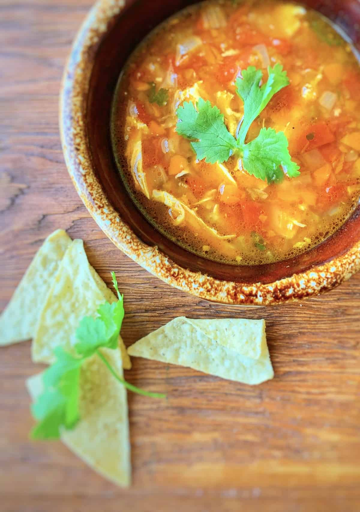 Hot Mex Chicken Soup