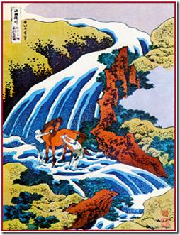 Водопад Ёсицуне на горе Ёсино. Из серии «Путешествие по водопадам различных провинций»
