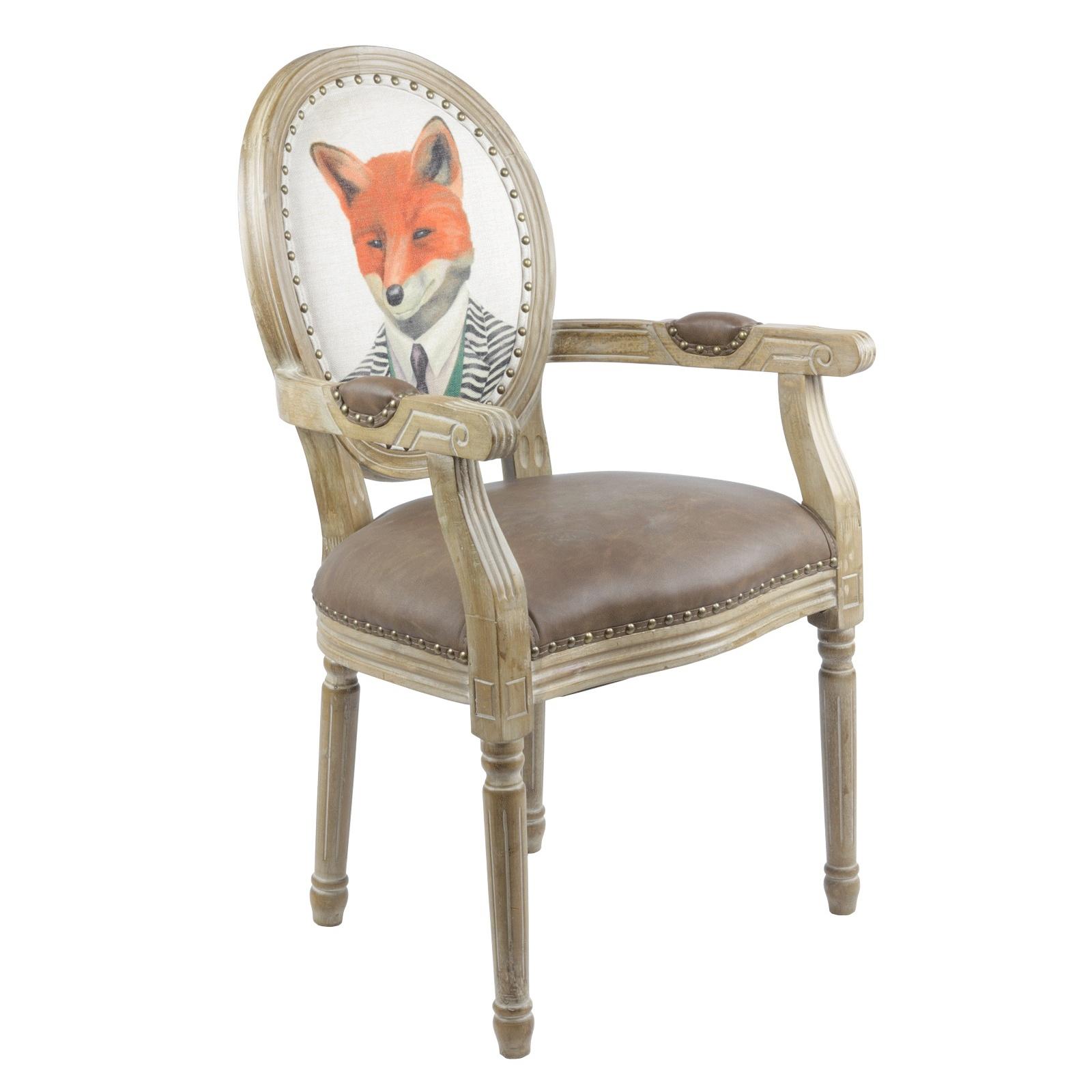 fauteuil louis xvi renard