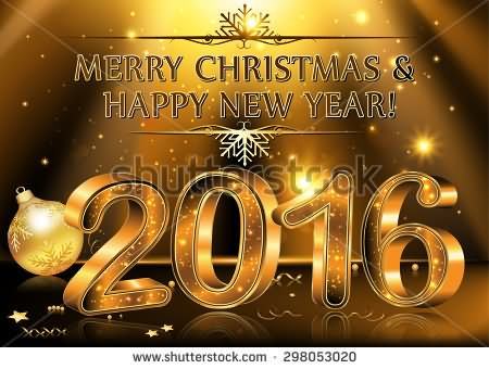 Merry-Christmas-And-Happy-New-Year-2016-Golden-Picture
