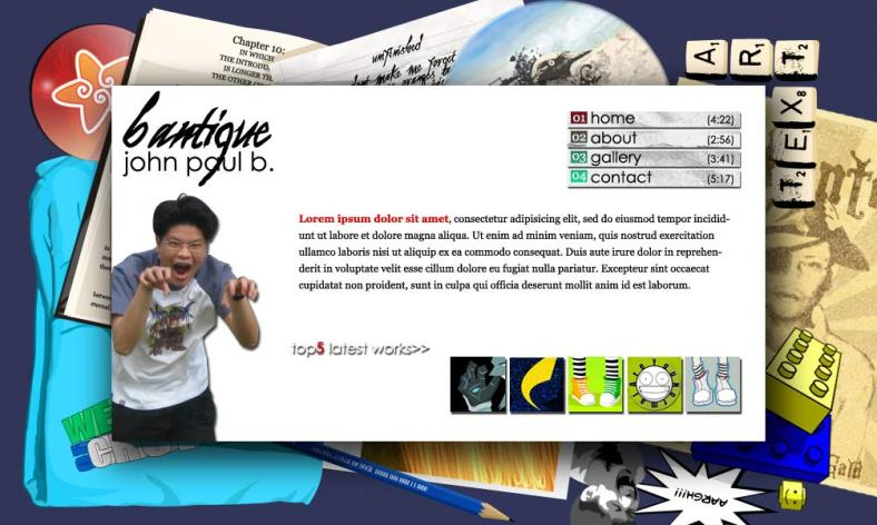 JPBB Portfolio Website Design 1