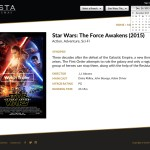 Vista Cinemas Website - Movie Page