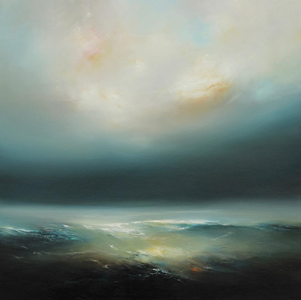 In Shadow Oil on Board Framed 97 x 97 cm
