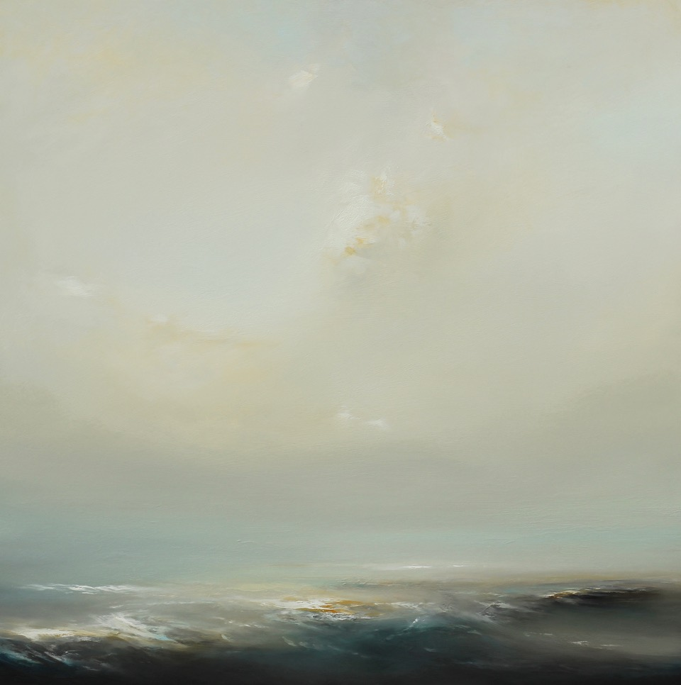 View Point Oil on Board 97 x 97 cm Framed