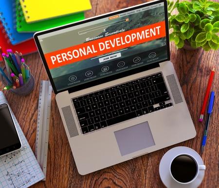Personal development - laptop graphic