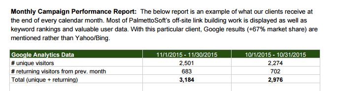 Palmetto Soft - Sample Report 1