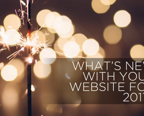 What's new with your website 2017