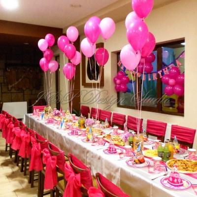 Декорация за рожден ден в цикламено