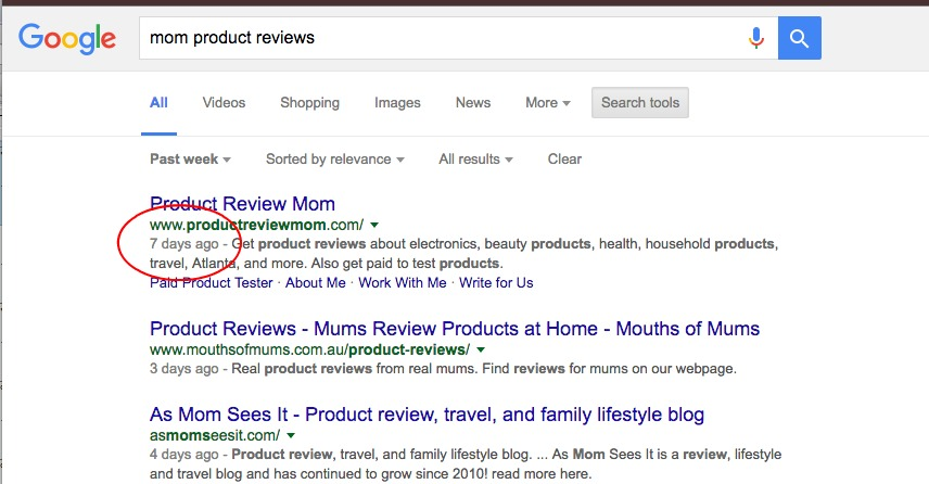 Google Search by Date Step 4