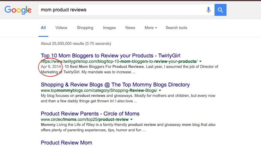 Google Search by Date Step 1
