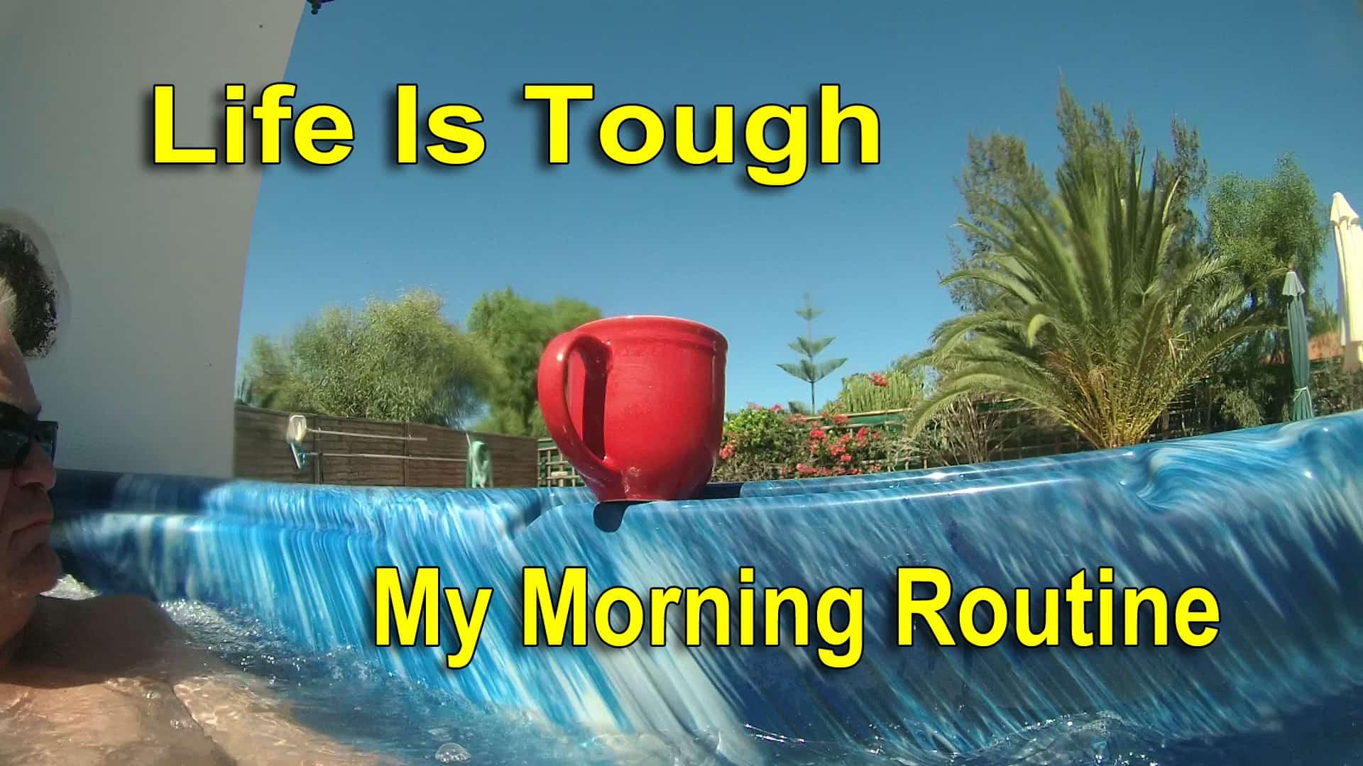 life is tough, hot tub