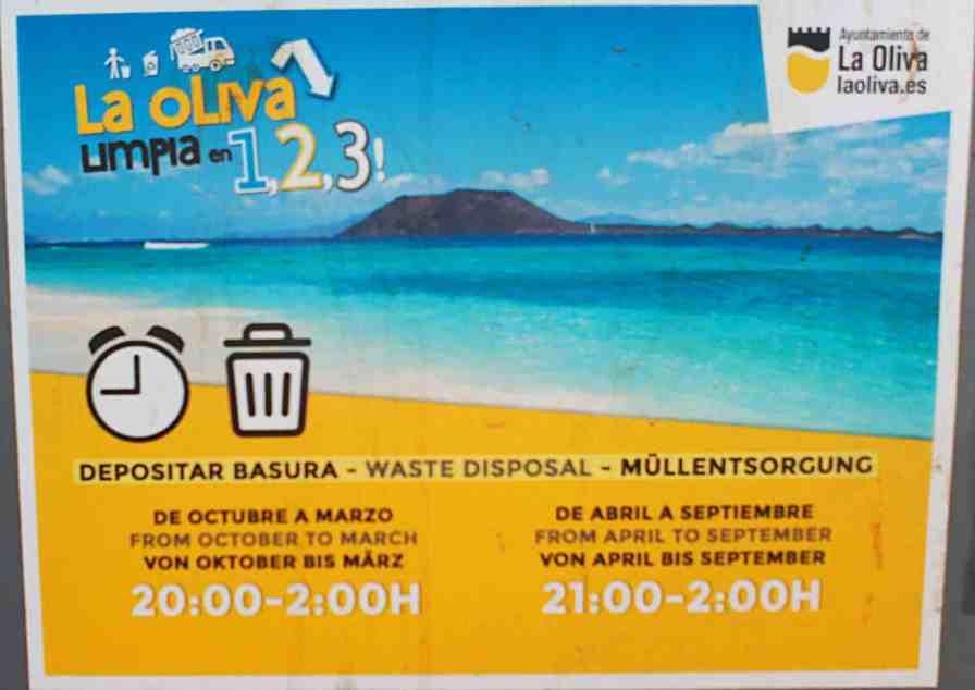 Rubbish collection in Fuerteventura
