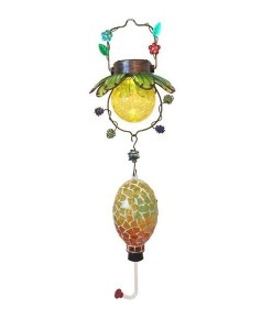Mosaic Solar Hummingbird Feeder Open