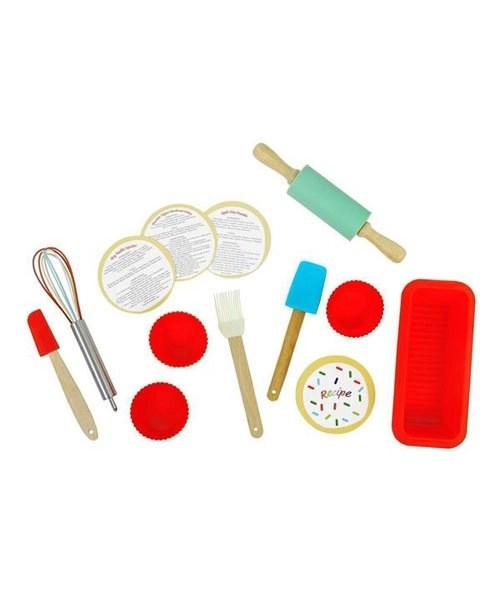 17 piece complete Intro to Baking set open