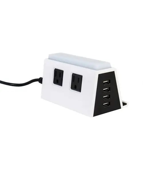 Tabletop Charging Station - USB and Electrical Outlets