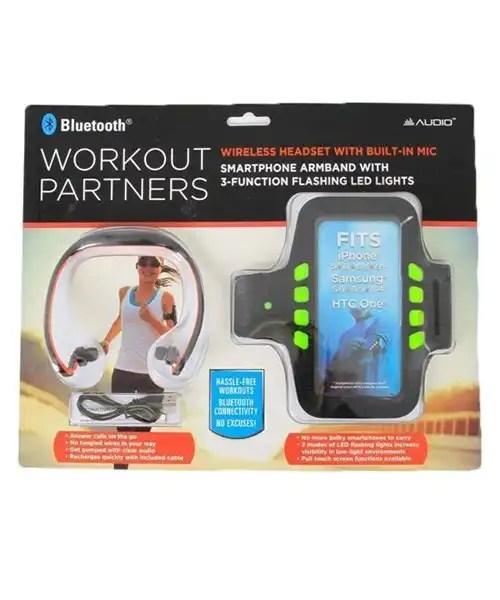 Bluetooth Sports Earbud and Sports Armband Set