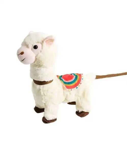 Singing Plush Llama on a Leash - No Tag
