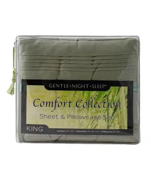 Sage Green - Microfiber Sheet Set King - Front