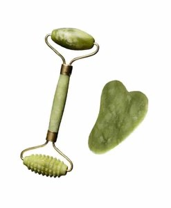 Jade Stone Roller with Gua Sha Jade Stone - Cover With Stone