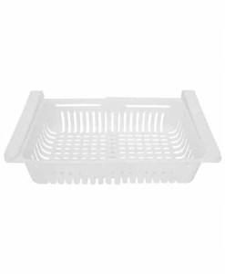 Retractable Refrigerator Rack -Single White