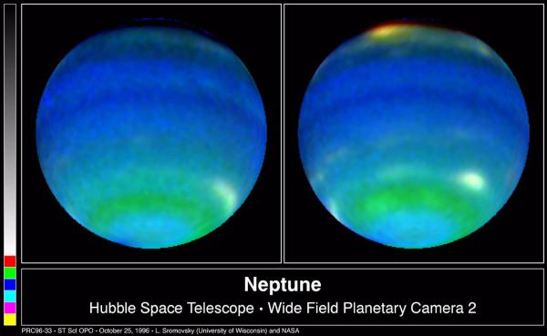 Space Images Neptune in Primary Colors