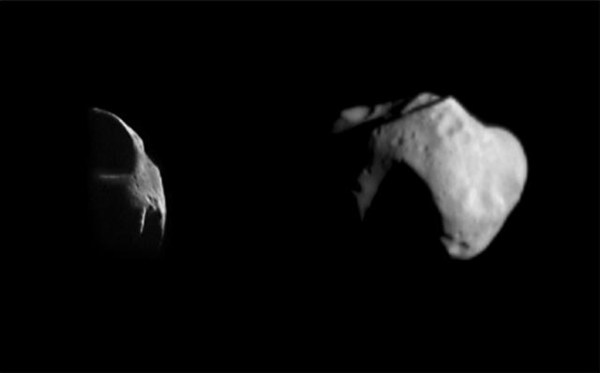 Space Images Two Views of Mathilde