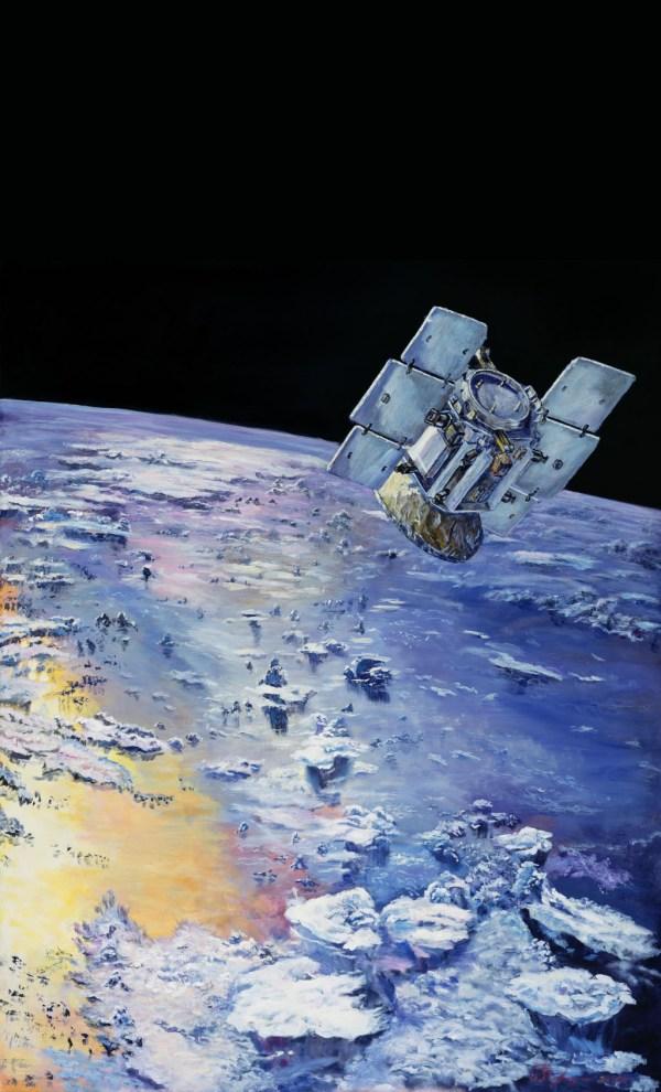Space Images   CloudSat in Orbit Around Earth (Artist's ...